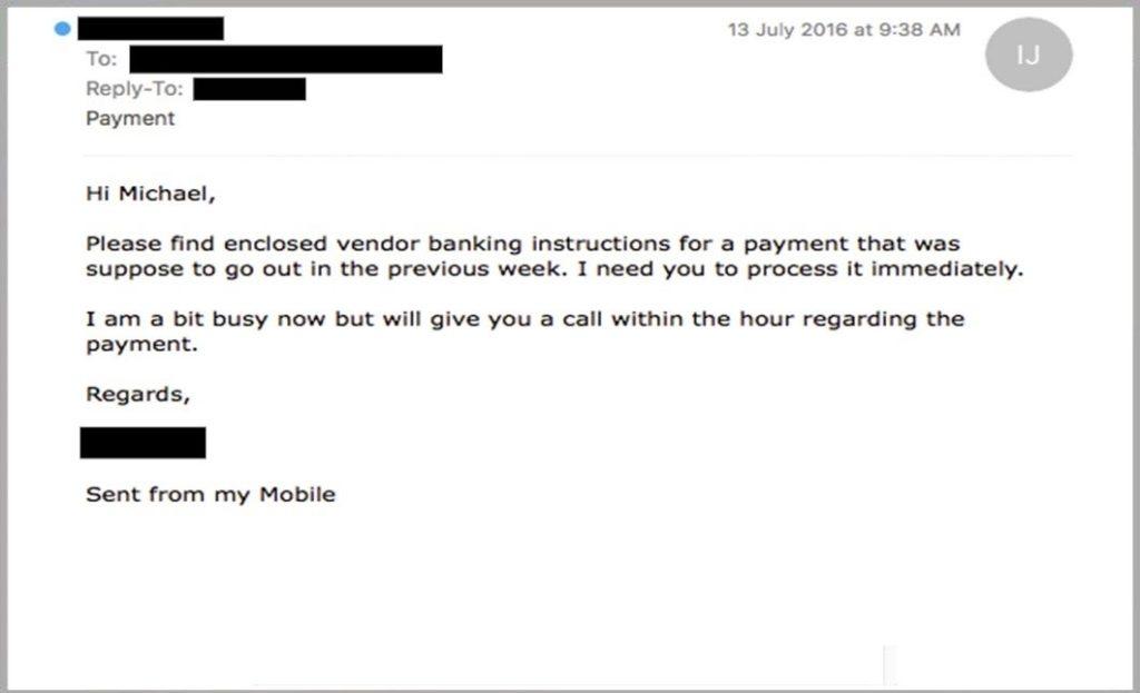 緊急引起恐慌的電子郵件