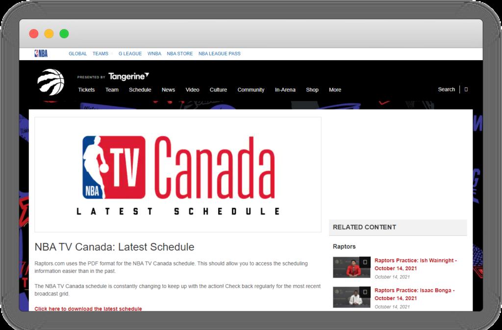 nba電視加拿大
